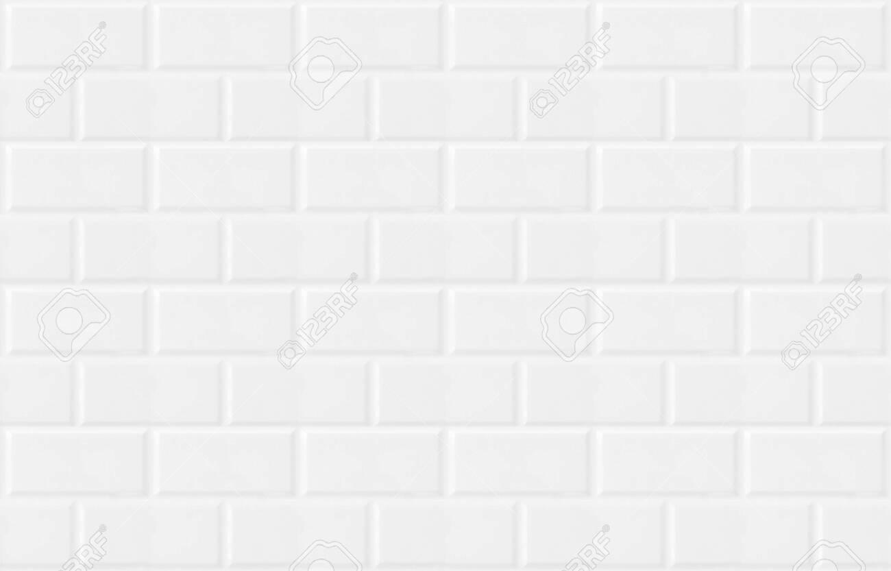 white vintage tiled wall - 139738122
