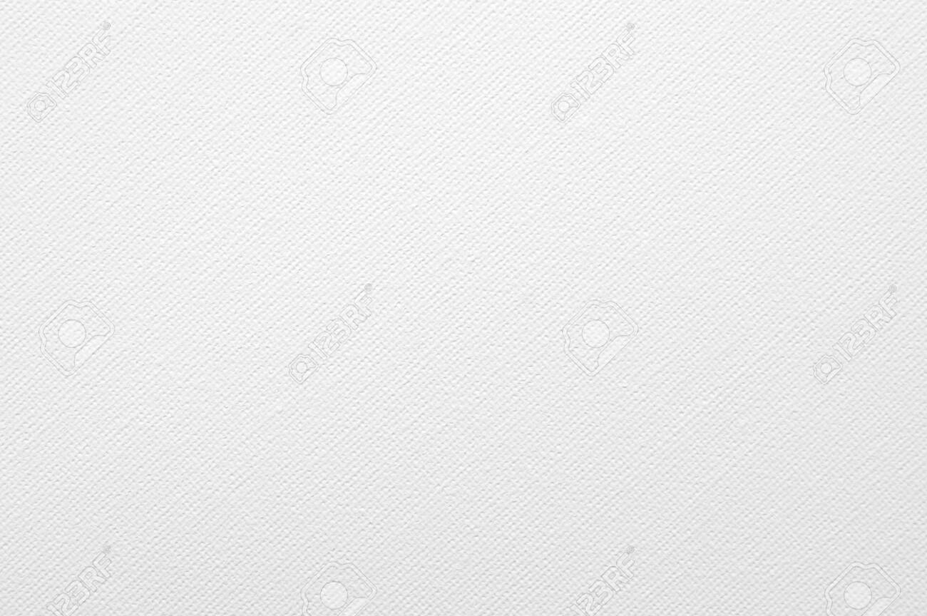 Blurred White Canvas Texture Background. Oil painted drawing paper. - 139825460