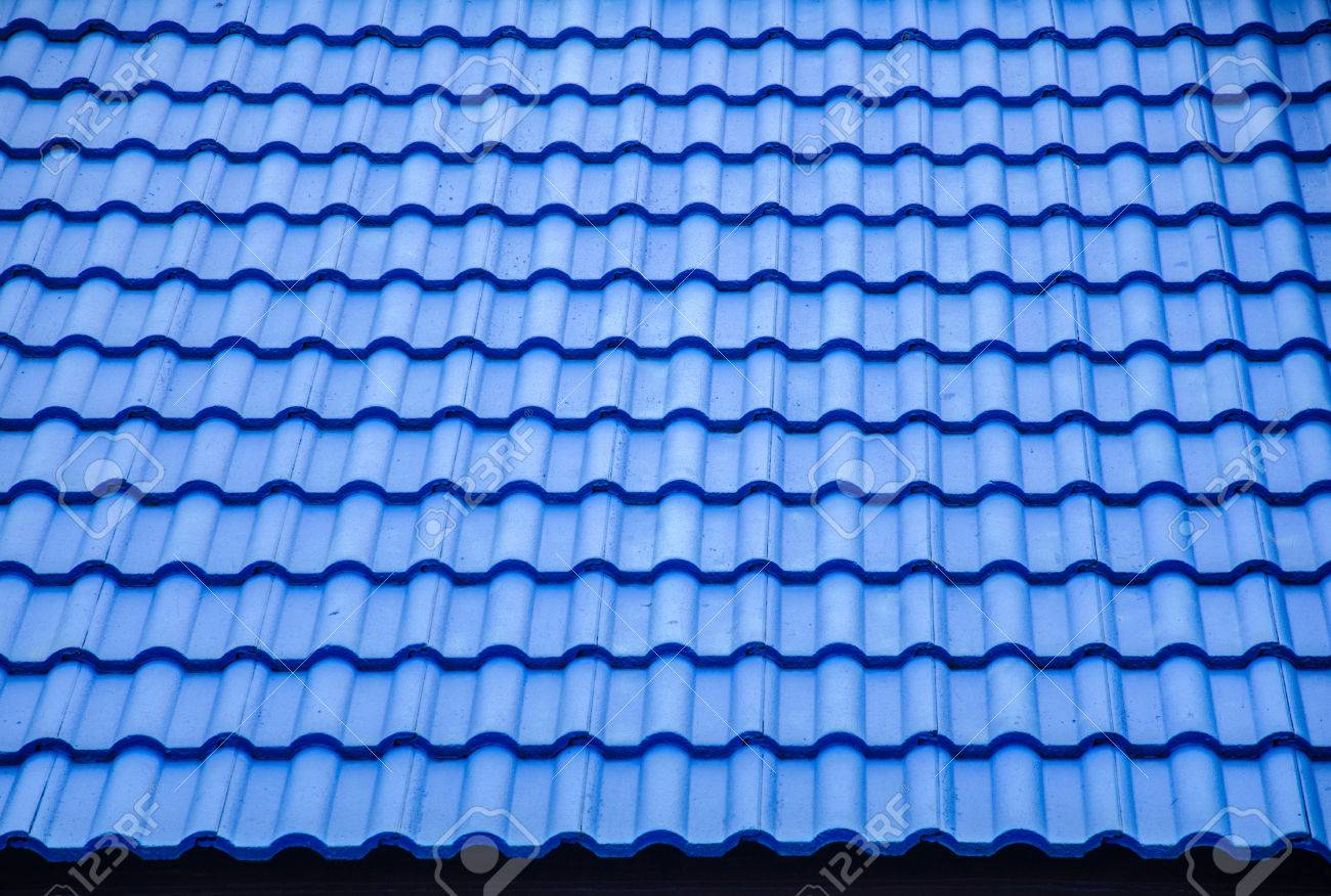 Ceramic tile roof with blue color stock photo picture and royalty ceramic tile roof with blue color stock photo 41204265 dailygadgetfo Images