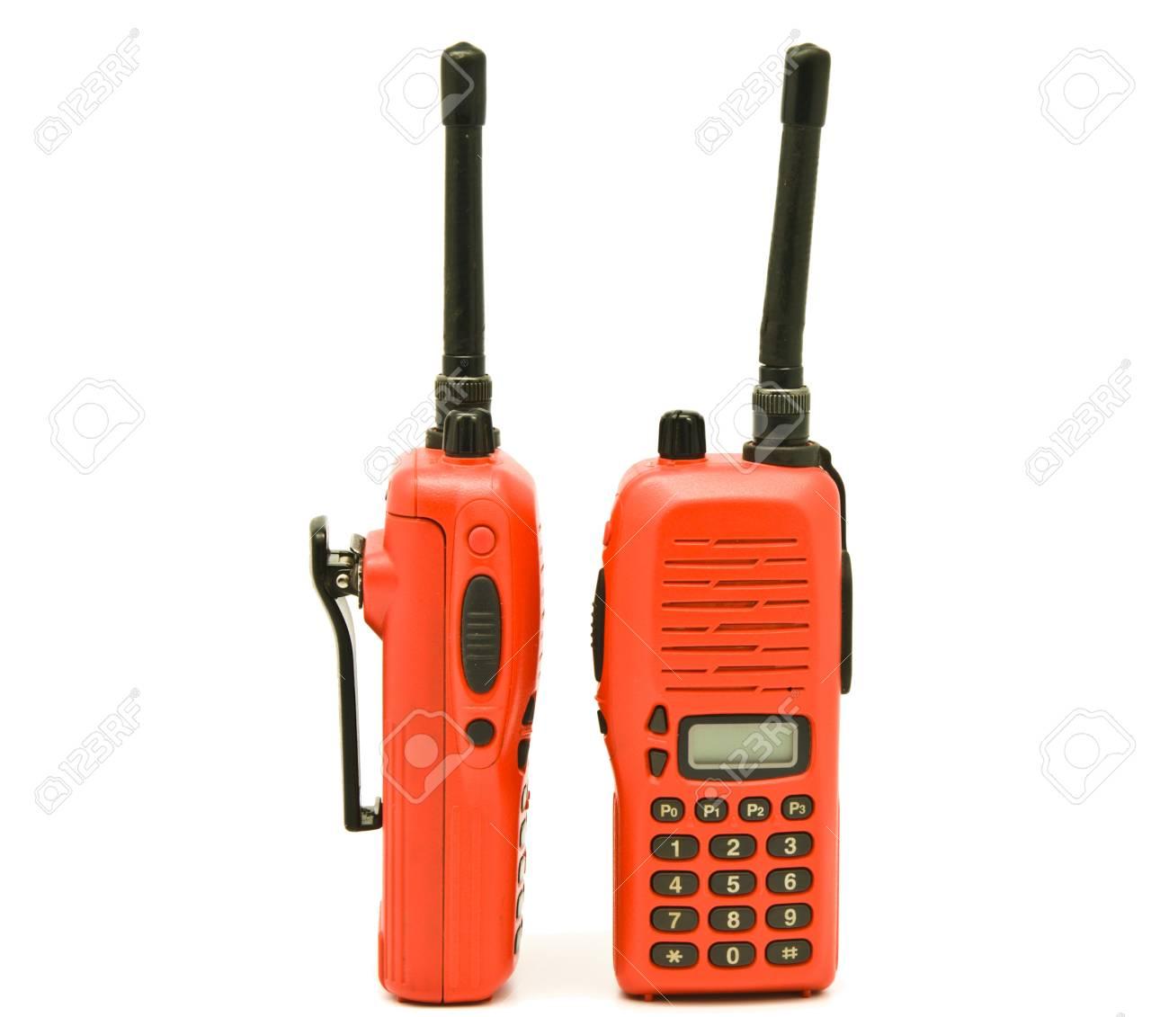 Red radio communication Stock Photo - 9101861