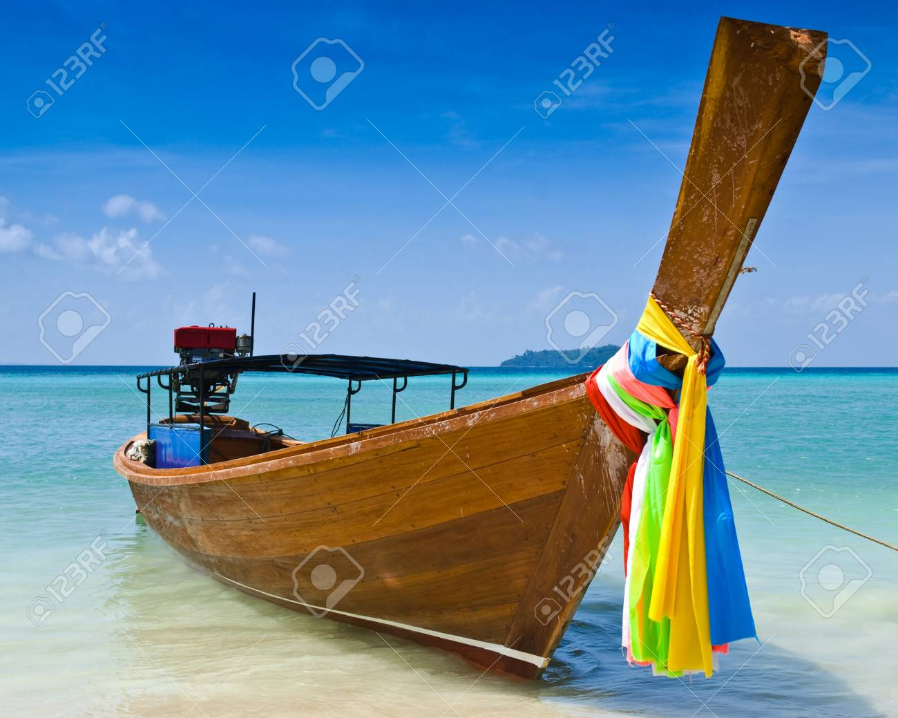 Long tailed boat at Phiphi island, Thailand Stock Photo - 9508232