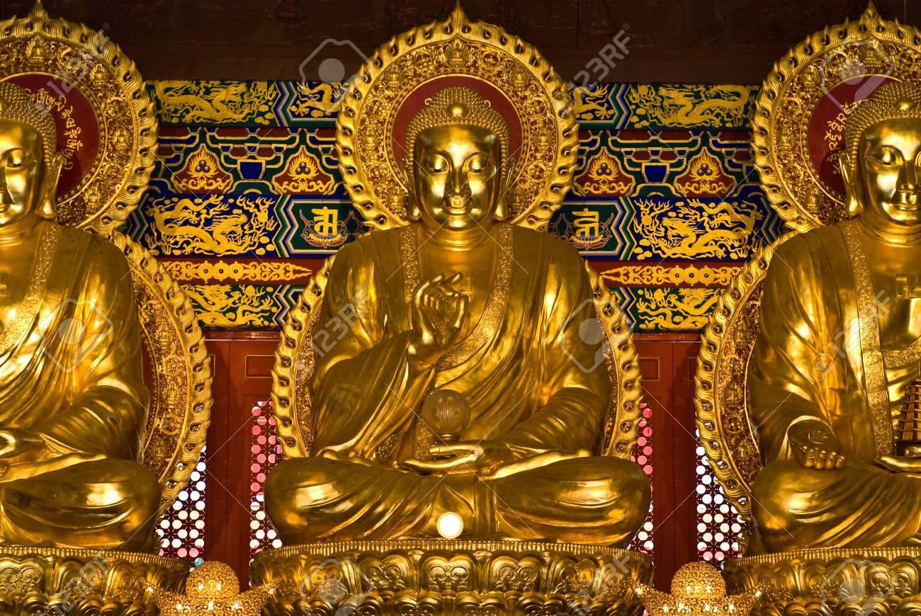 buddha statue in Wat-Leng-Noei-Yi2 at Bang-Bua-Thong, Nonthaburi, Thailand Stock Photo - 10600603