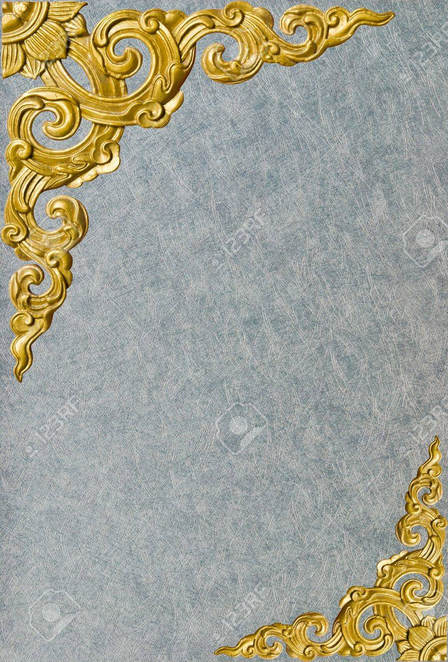Traditional Thai style pattern decorative isolated on wall background Stock Photo - 13352118