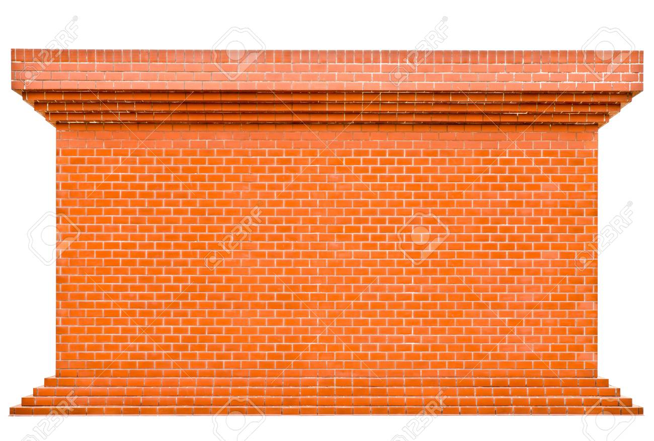 Decorative red brick wall texture in horizontal view Stock Photo - 14128402