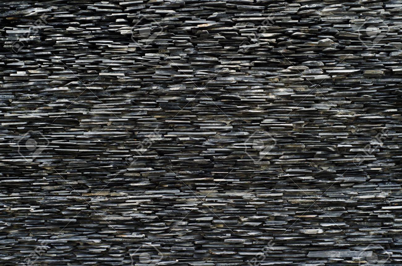 cross section pattern of decorative slate stone wall surface Stock Photo - 14831401
