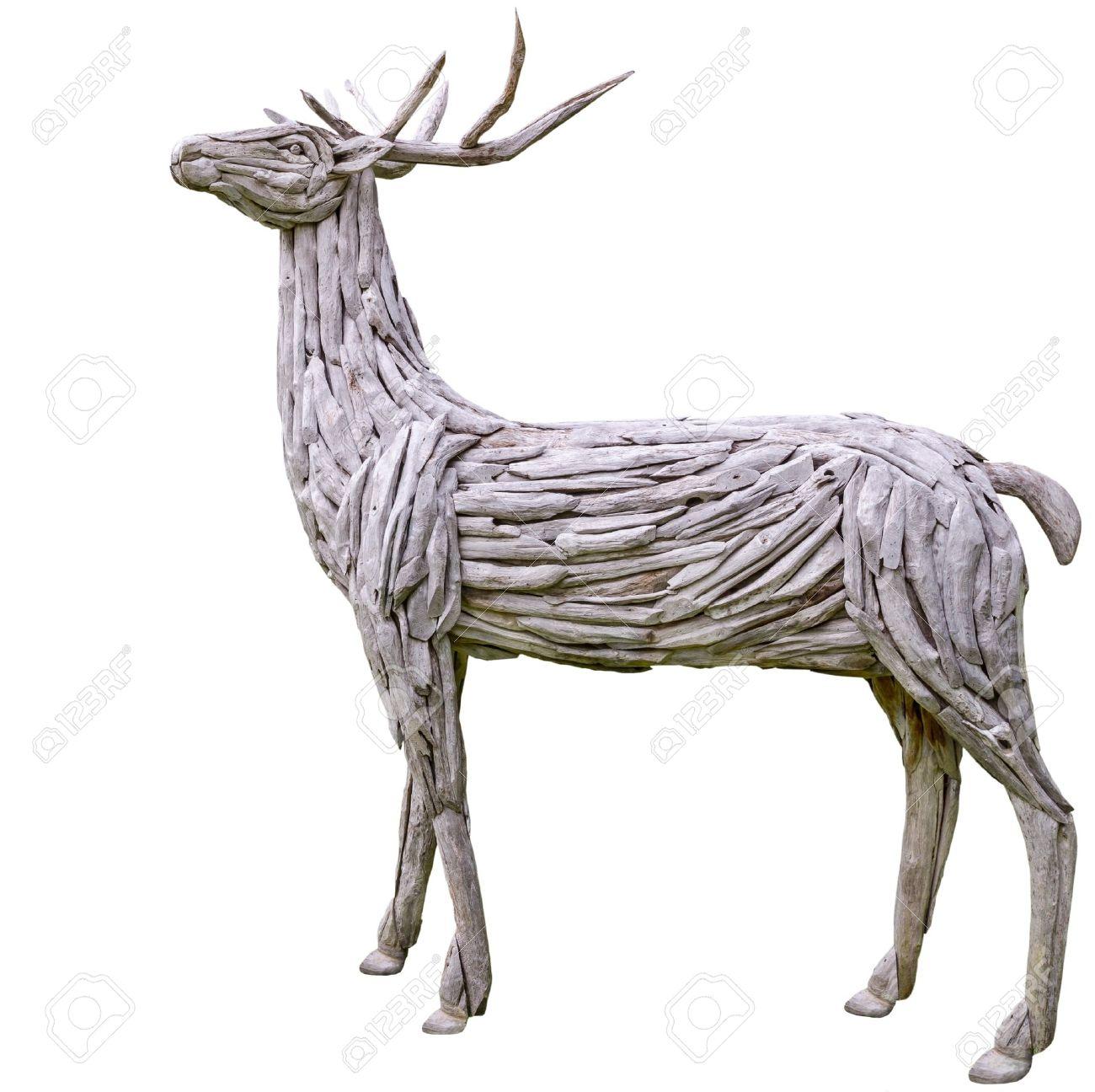 Materiaux Naturel décoratifs bois de renne en bois fabriqués à partir de matériaux