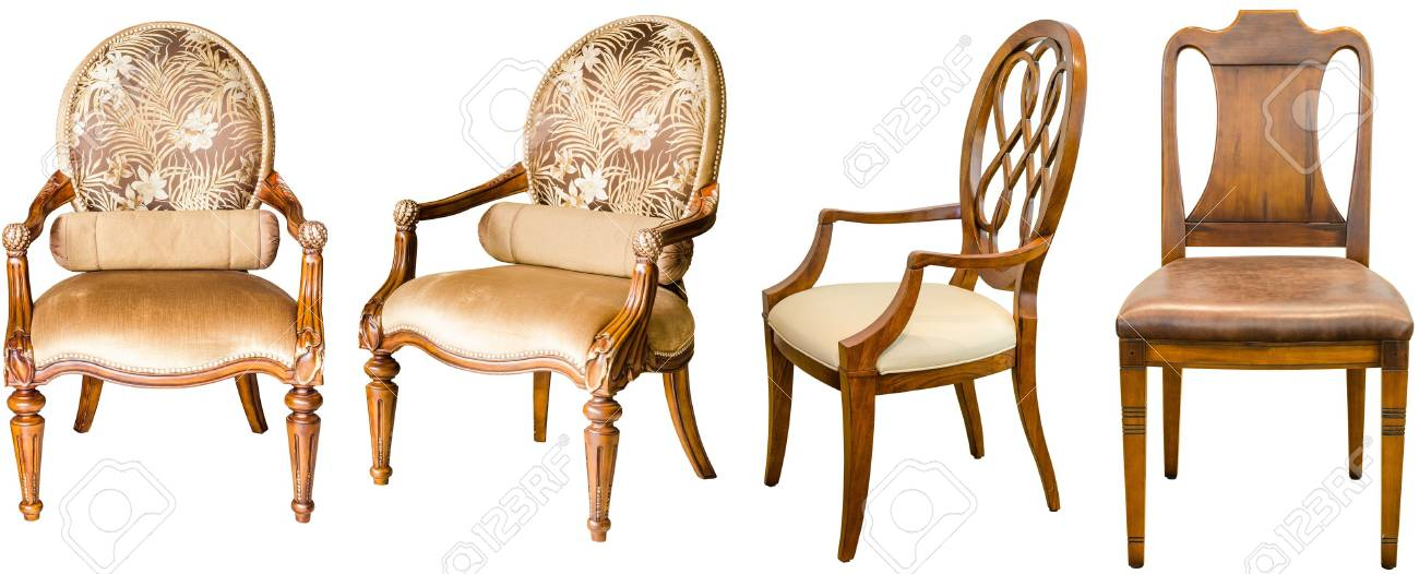 Decorative modern style wooden chair , kind of furniture  isolated on white background Stock Photo - 15799516