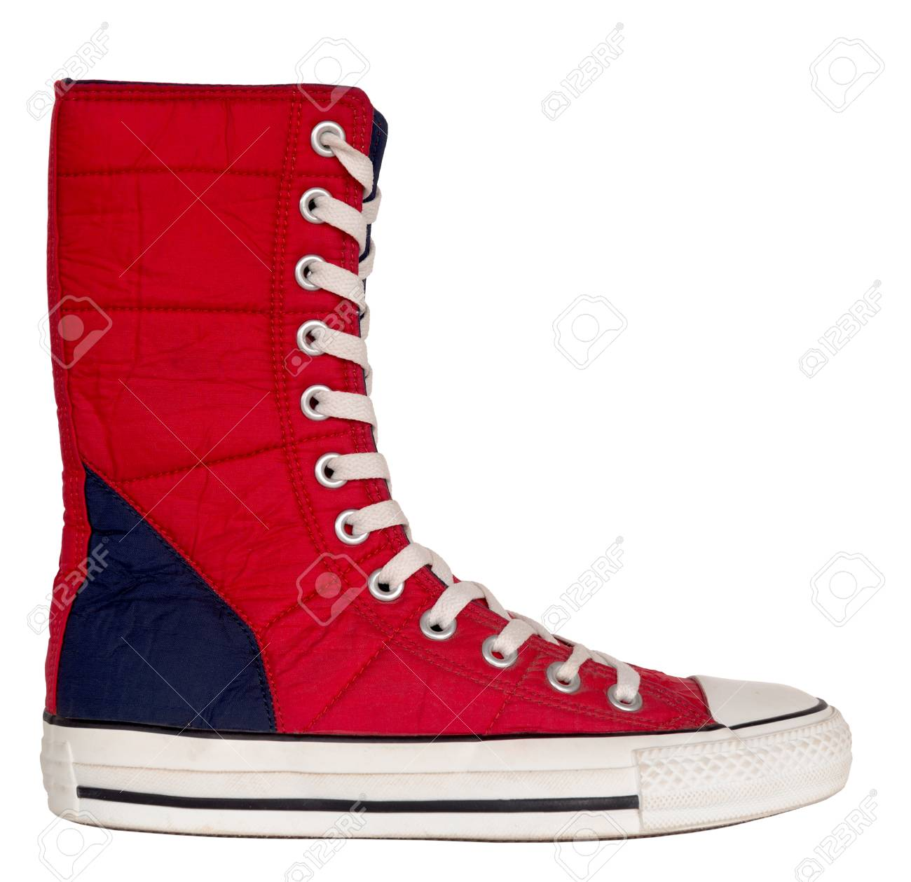 Vintage Style Of Canvas Boot Shoes