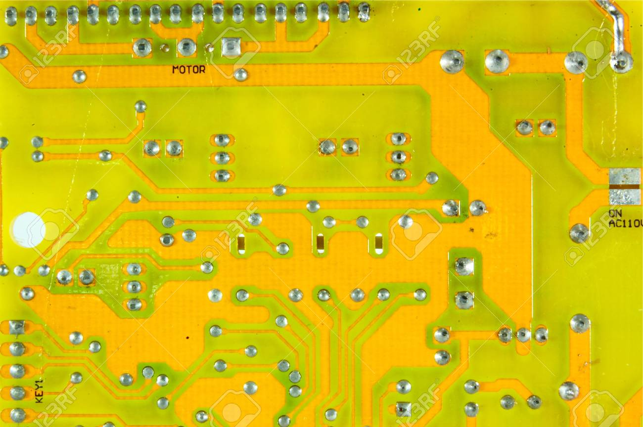 Printed Circuit Board Assembly of a fan Stock Photo - 15170992