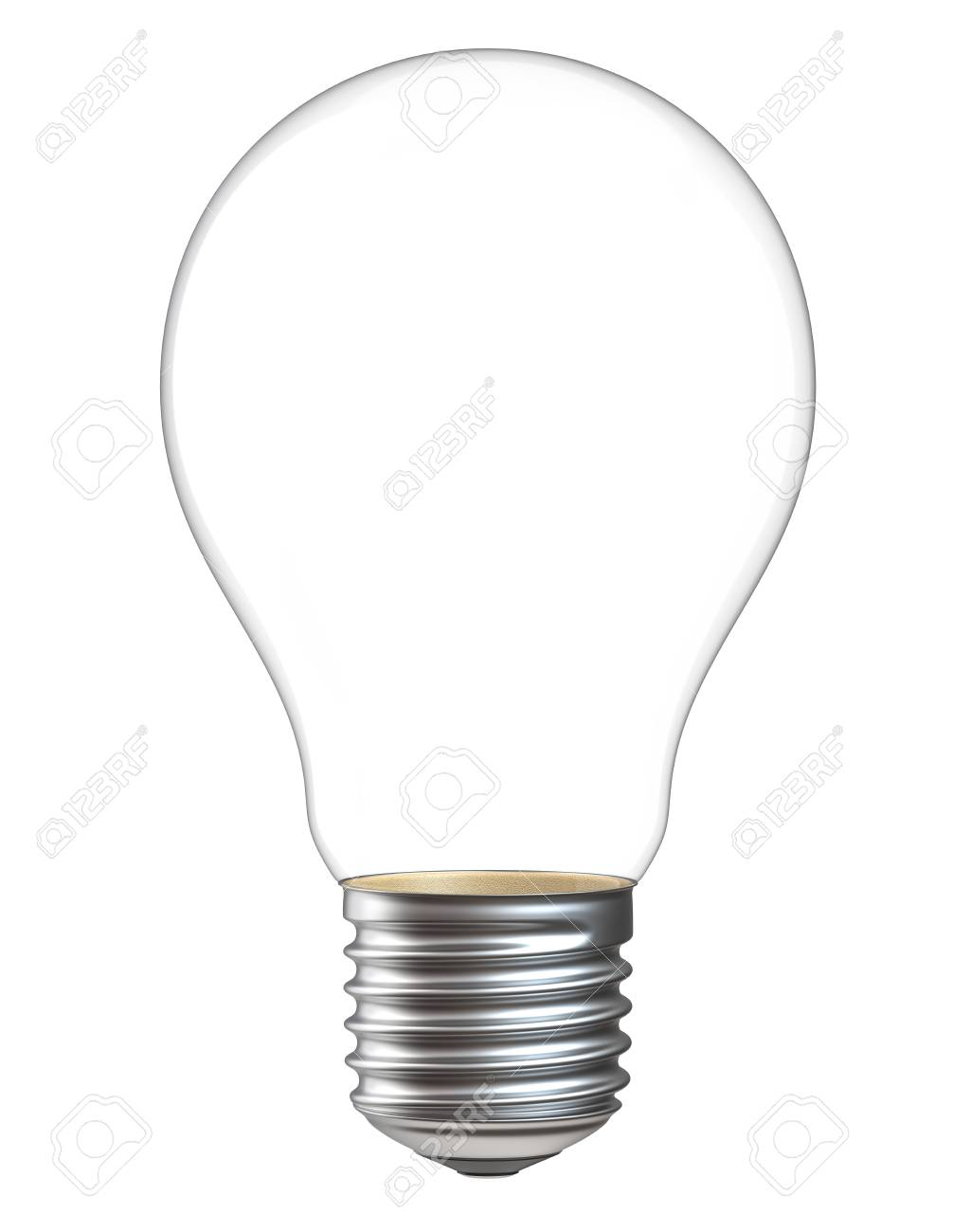 3d Illustration Of Empty Light Bulb Isolated On White Background ...