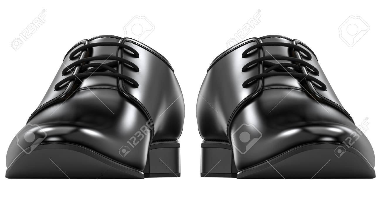 Front View Of Mens Fashion Shoes Black