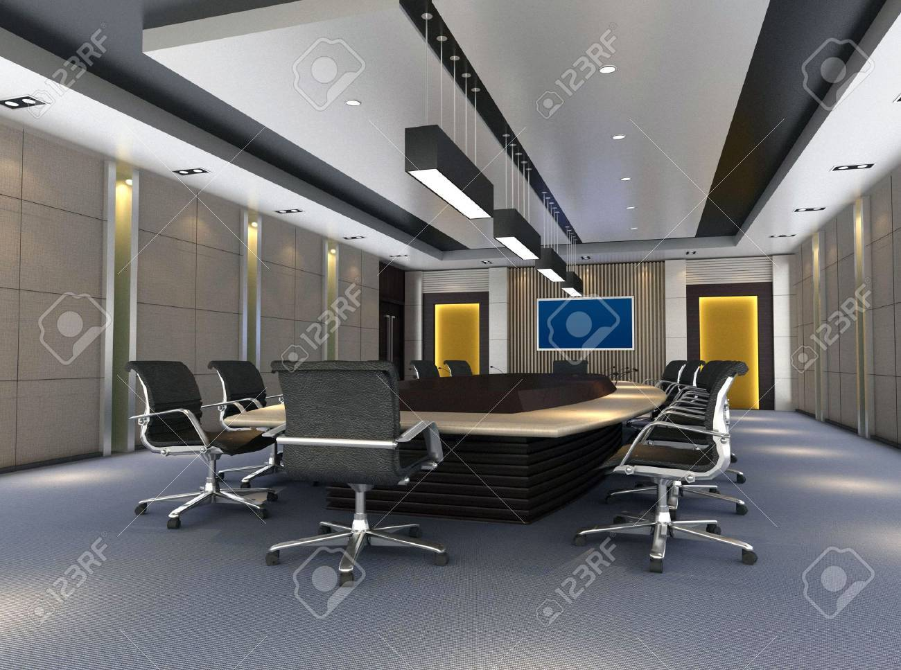 The Computer Generated 3d Image Of The Modern Conference Hall Stock Photo Picture And Royalty Free Image Image 4178561