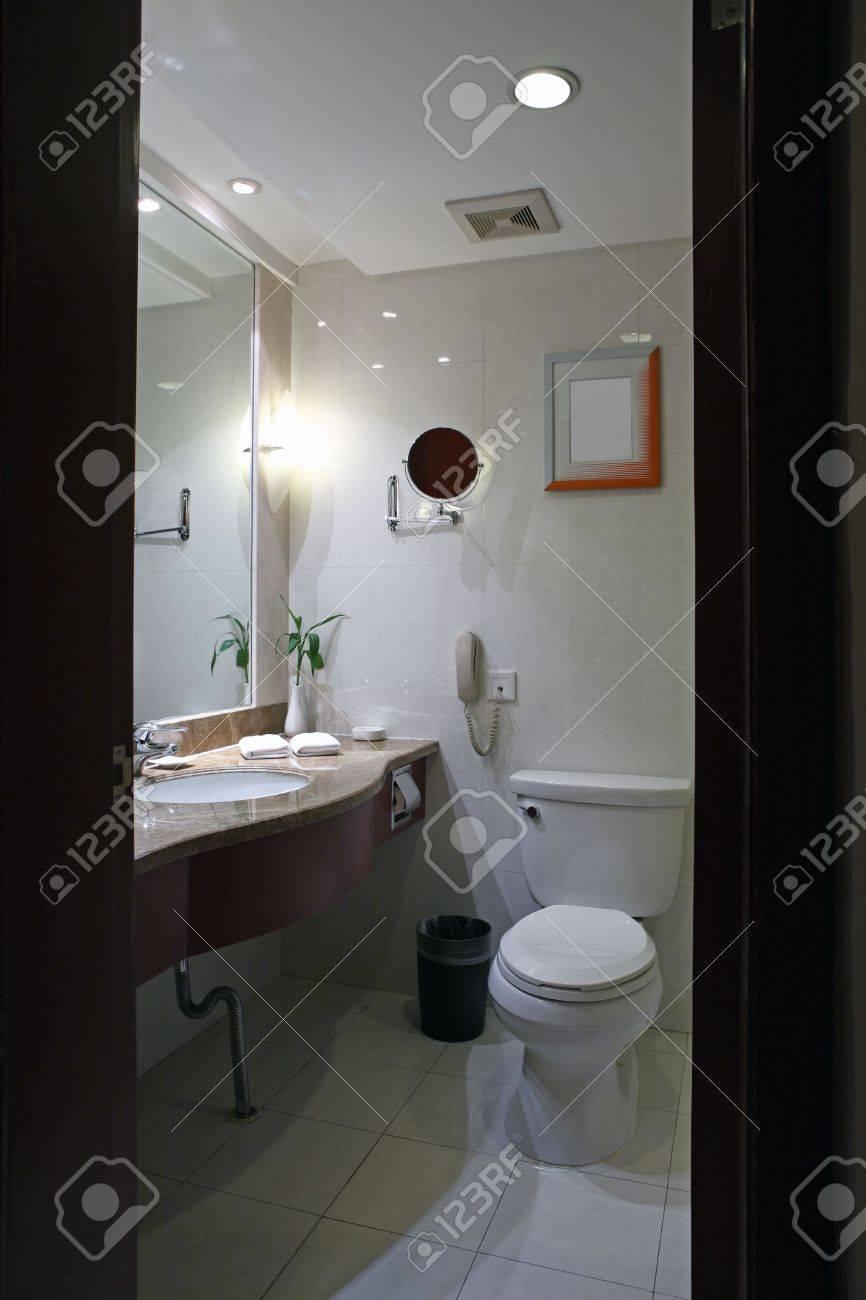 a modern, contemporary designer bathroom Stock Photo - 5205834