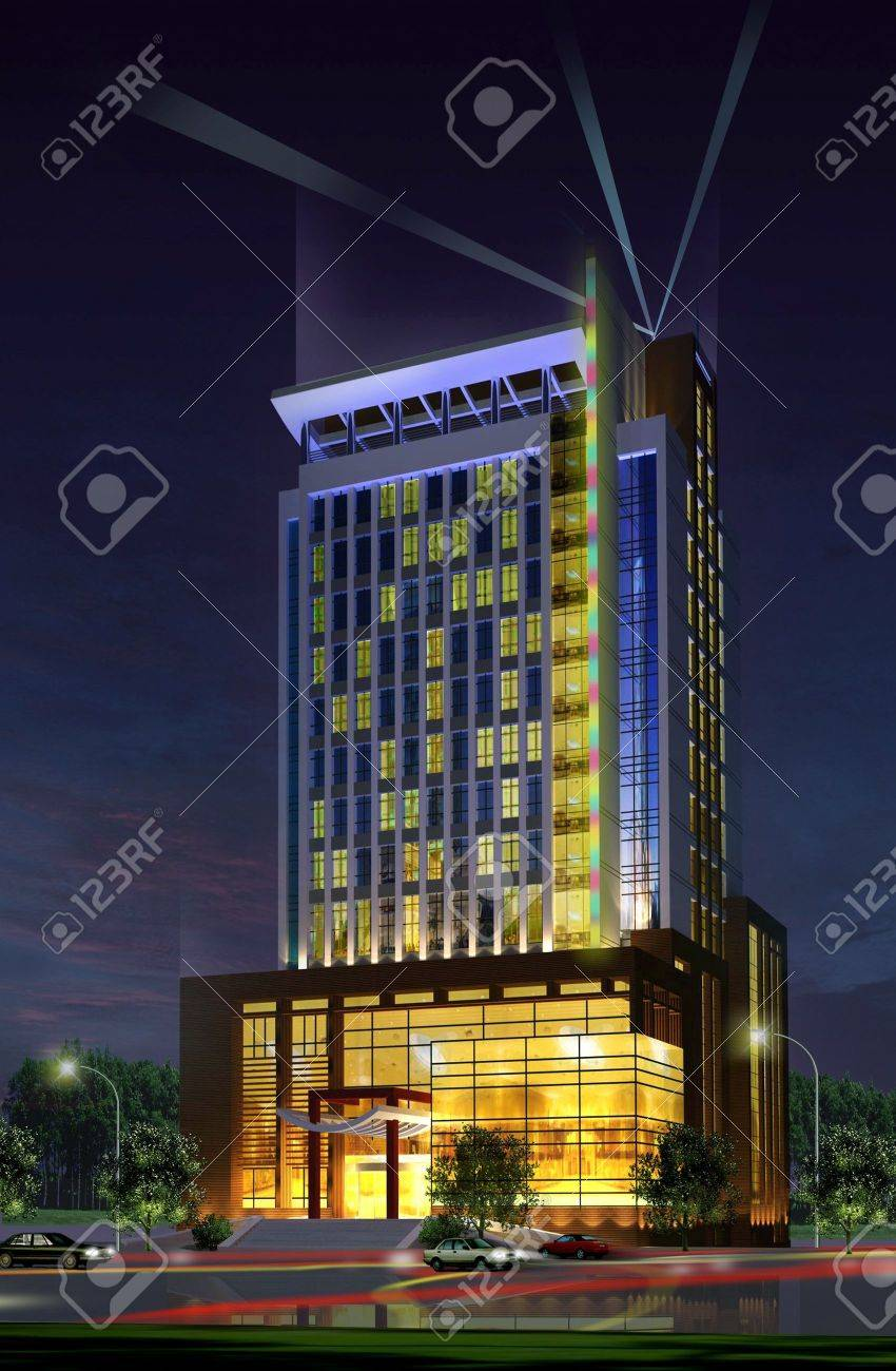 Cool Architecture Office Buildings 3d construction of office building. concept - modern city, modern