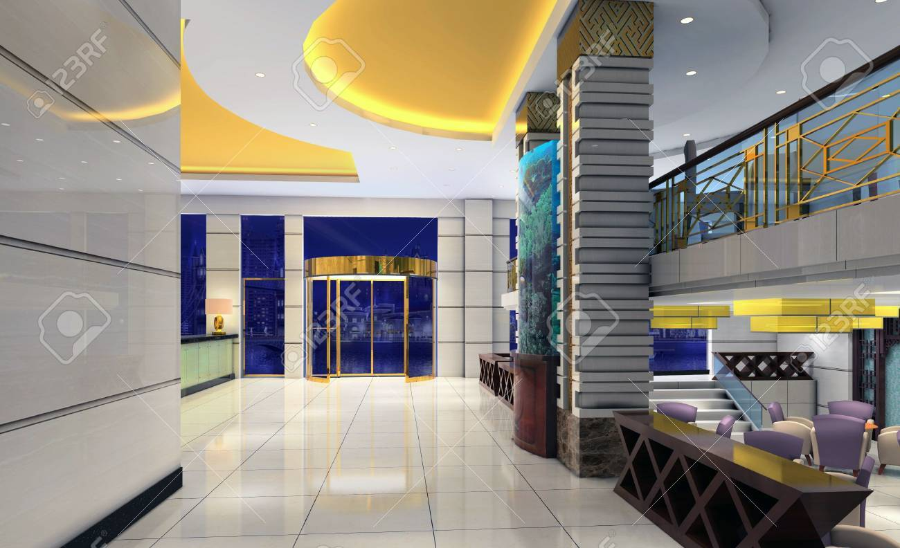 3d modern hall,corridor Stock Photo - 6867570