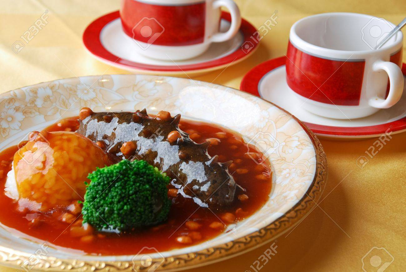 China delicious food--sea cucumber and rice Stock Photo - 7308507