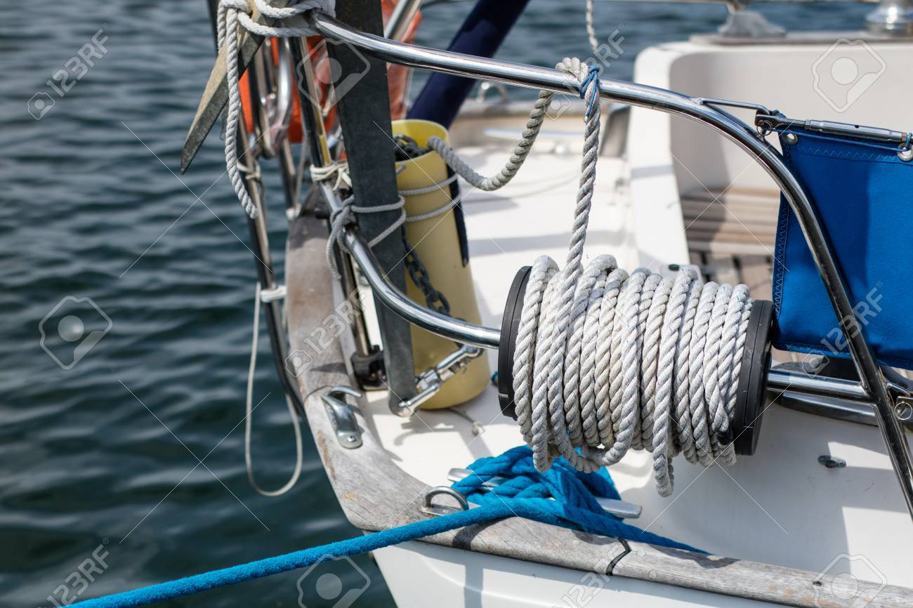 Rigging of deep-sea sailboats  Sailing accessories on a yacht