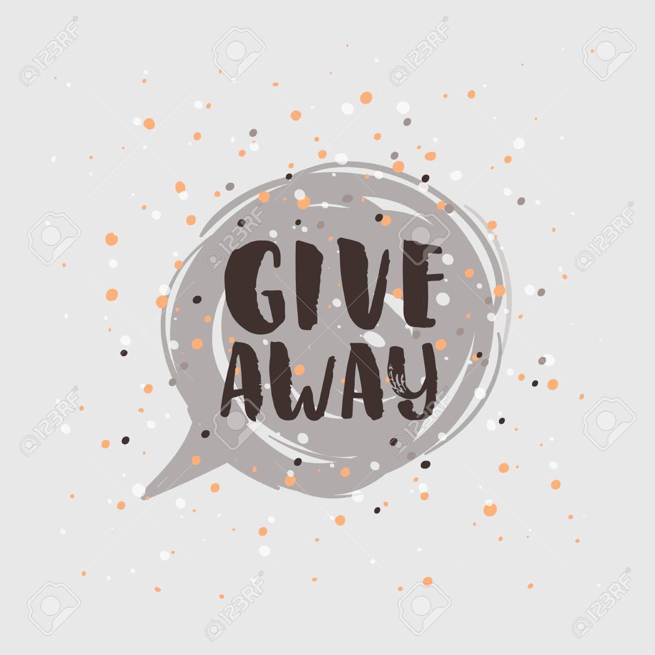 template post card concept handwritten motivation giveaway