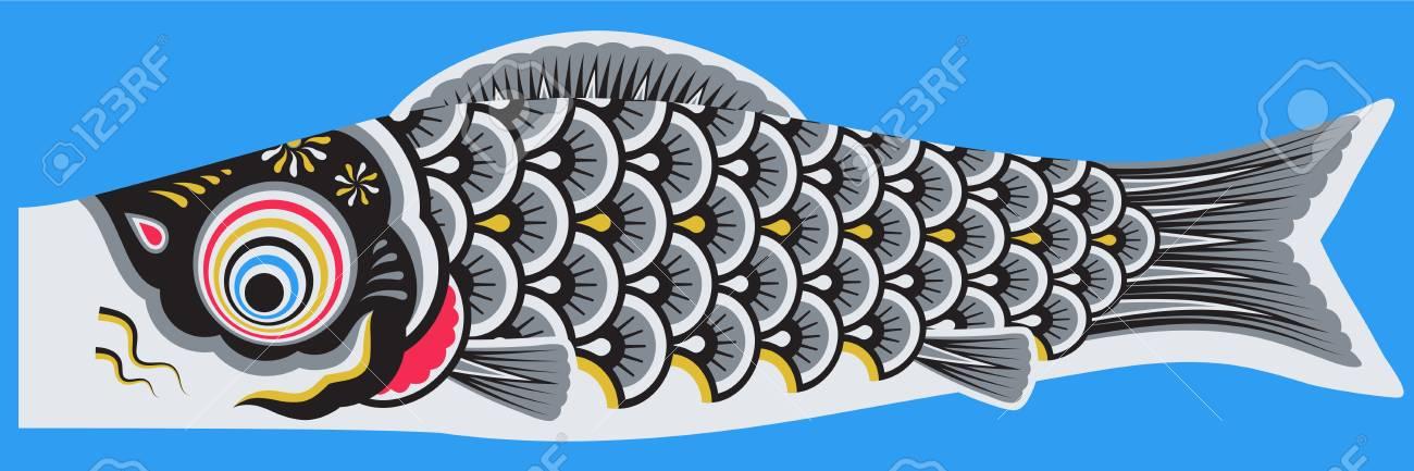 Koinobori japanese style fish - 110725908