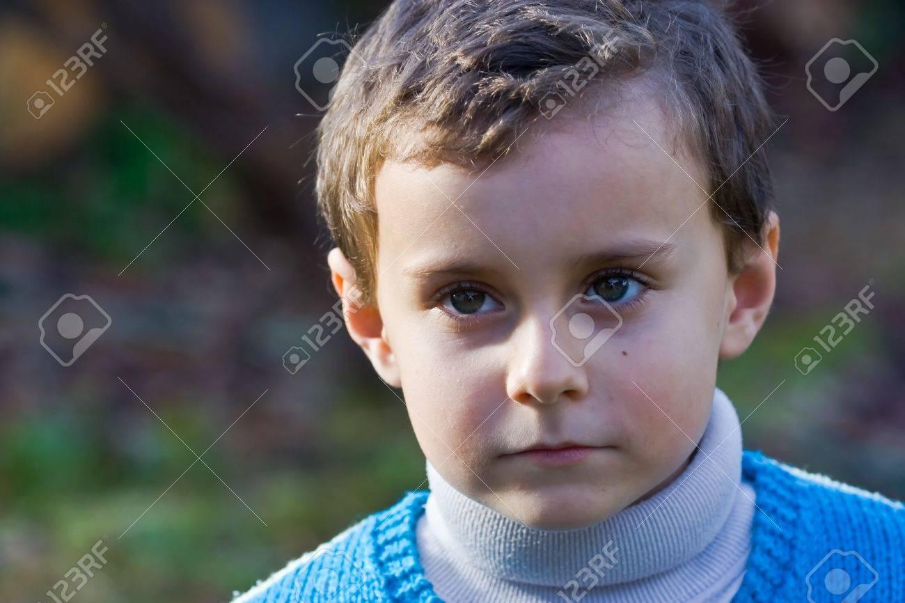 Portrait of a beautiful thoughtful child Stock Photo - 2139363