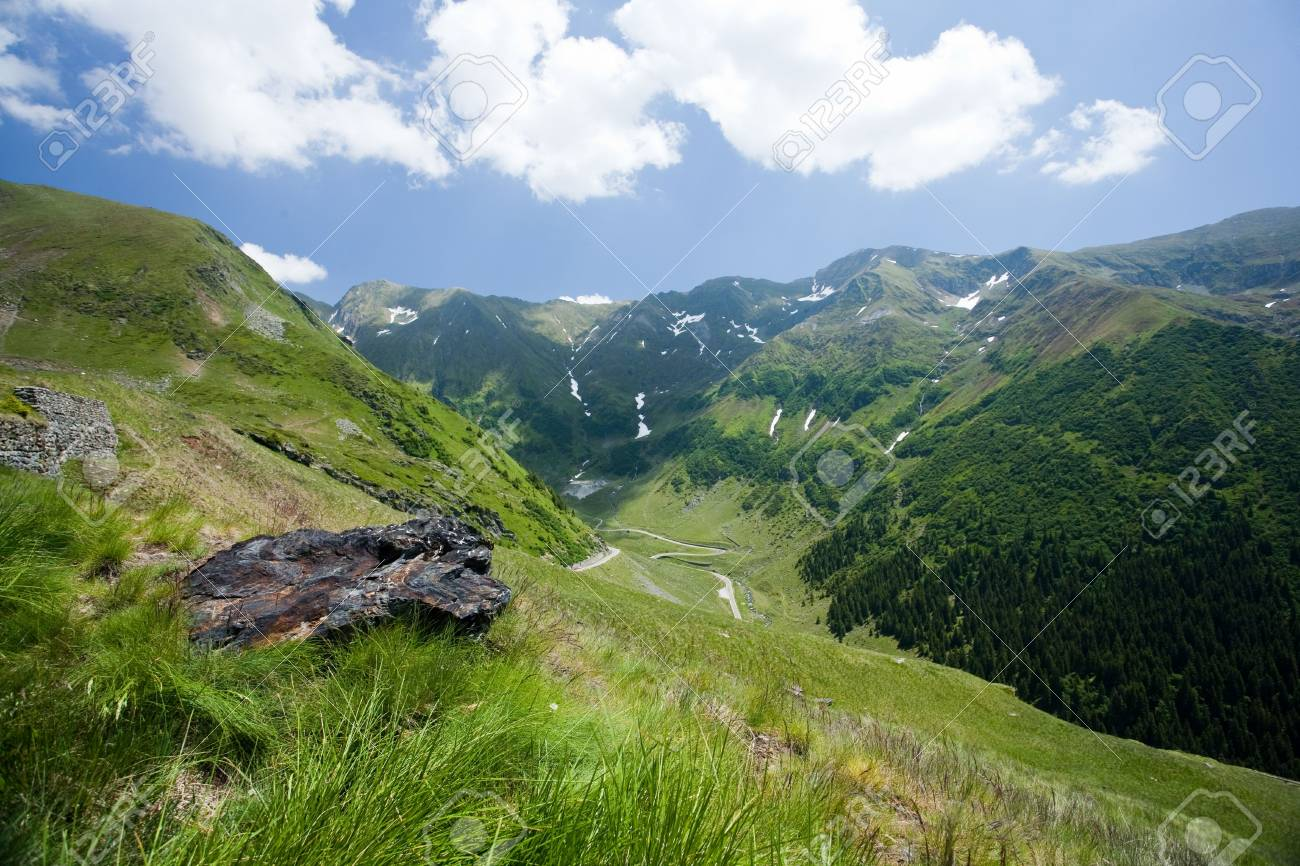 Beautiful view of Romanian mountain on summer Stock Photo - 5106890
