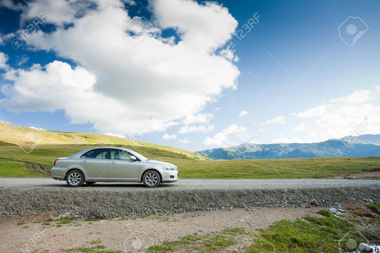 Family sedan outdoors in a remote location - holiday concept Stock Photo - 5277931