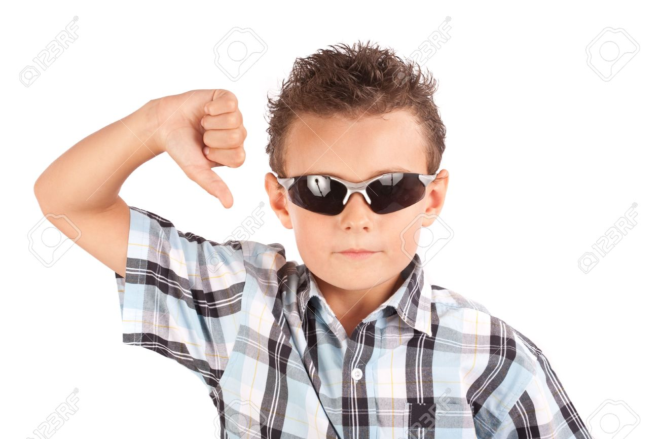 466c002392ad Cool Kid With Sunglasses Showing