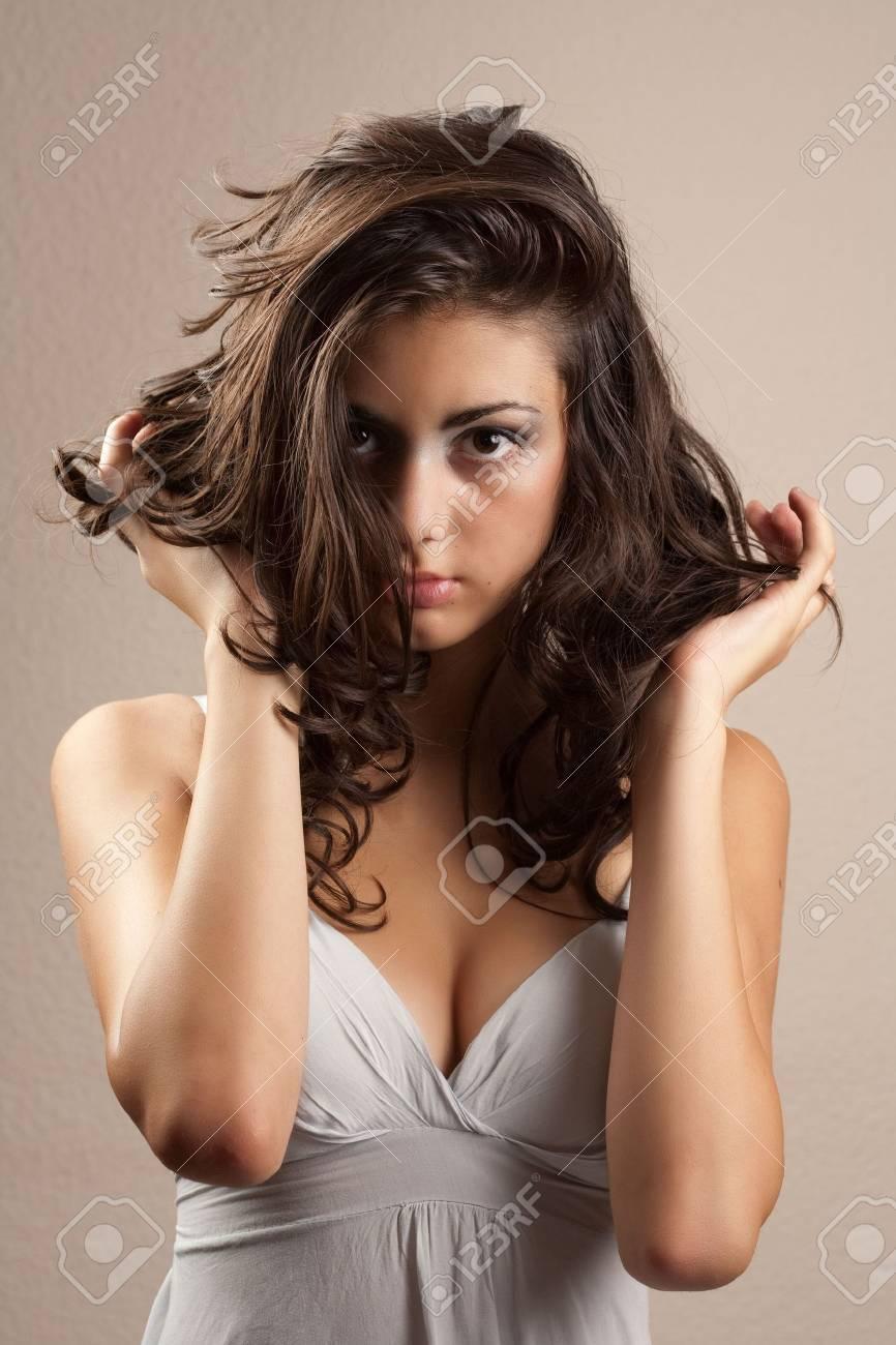 Portrait of a beautiful young hispanic woman Stock Photo - 5405240
