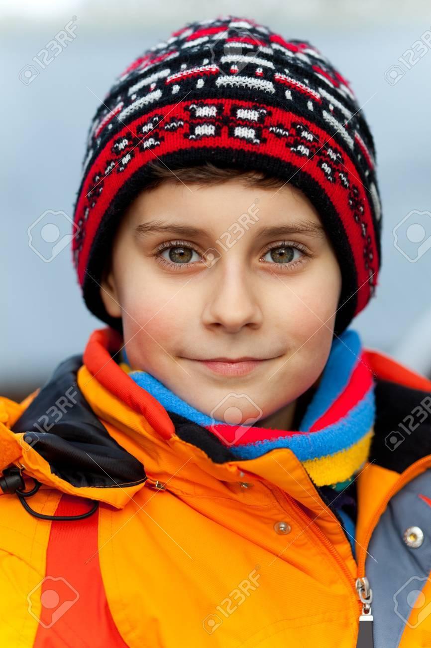 Closeup portrait of a beautiful child outdoor Stock Photo - 8739473