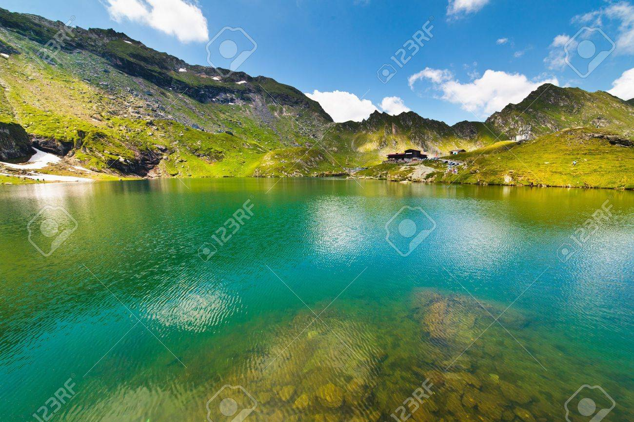 Landscape from Balea Lake in Romania and Fagaras mountains in the summer - 10022752