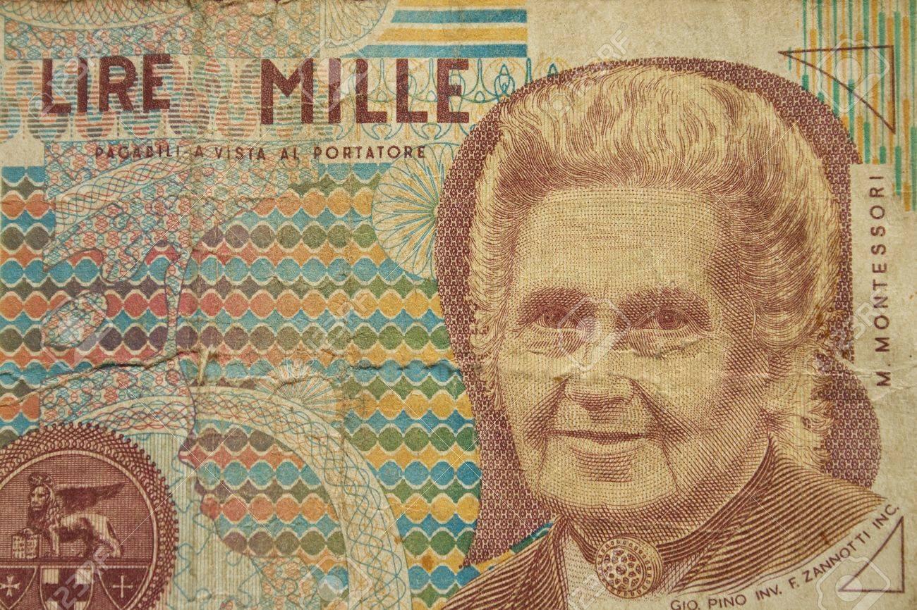 1000 Lira Italian Bank Note Banca Ditalia Lire Wide Depth Of