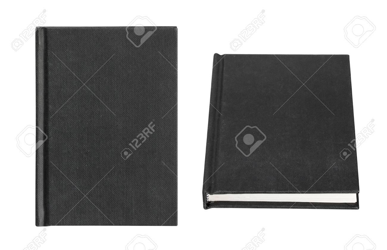 Couverture De Livre Noir Isole Sur Fond Blanc