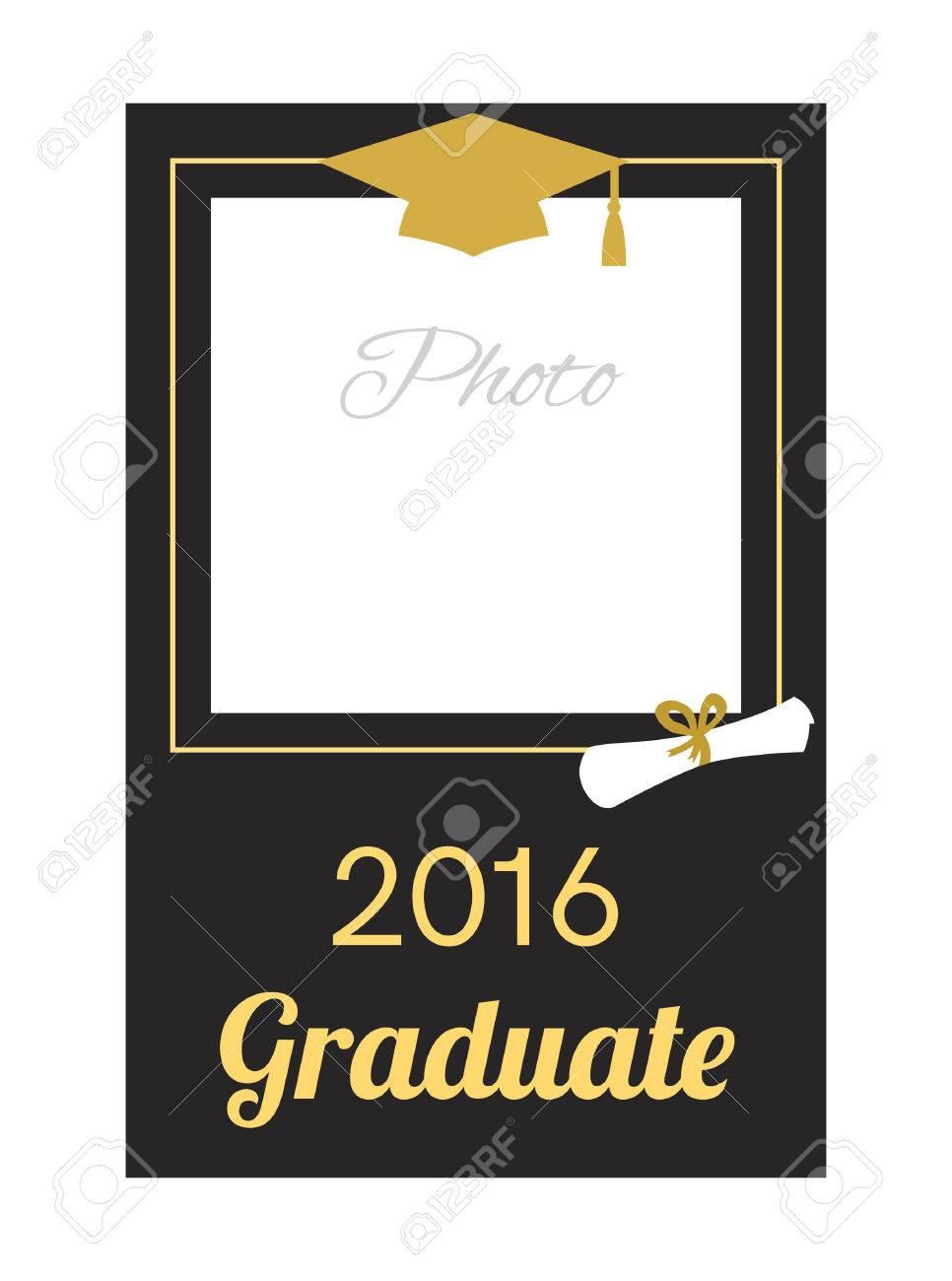 Estudiante 2016 Marco De La Foto De La Graduación. Diseño De La ...