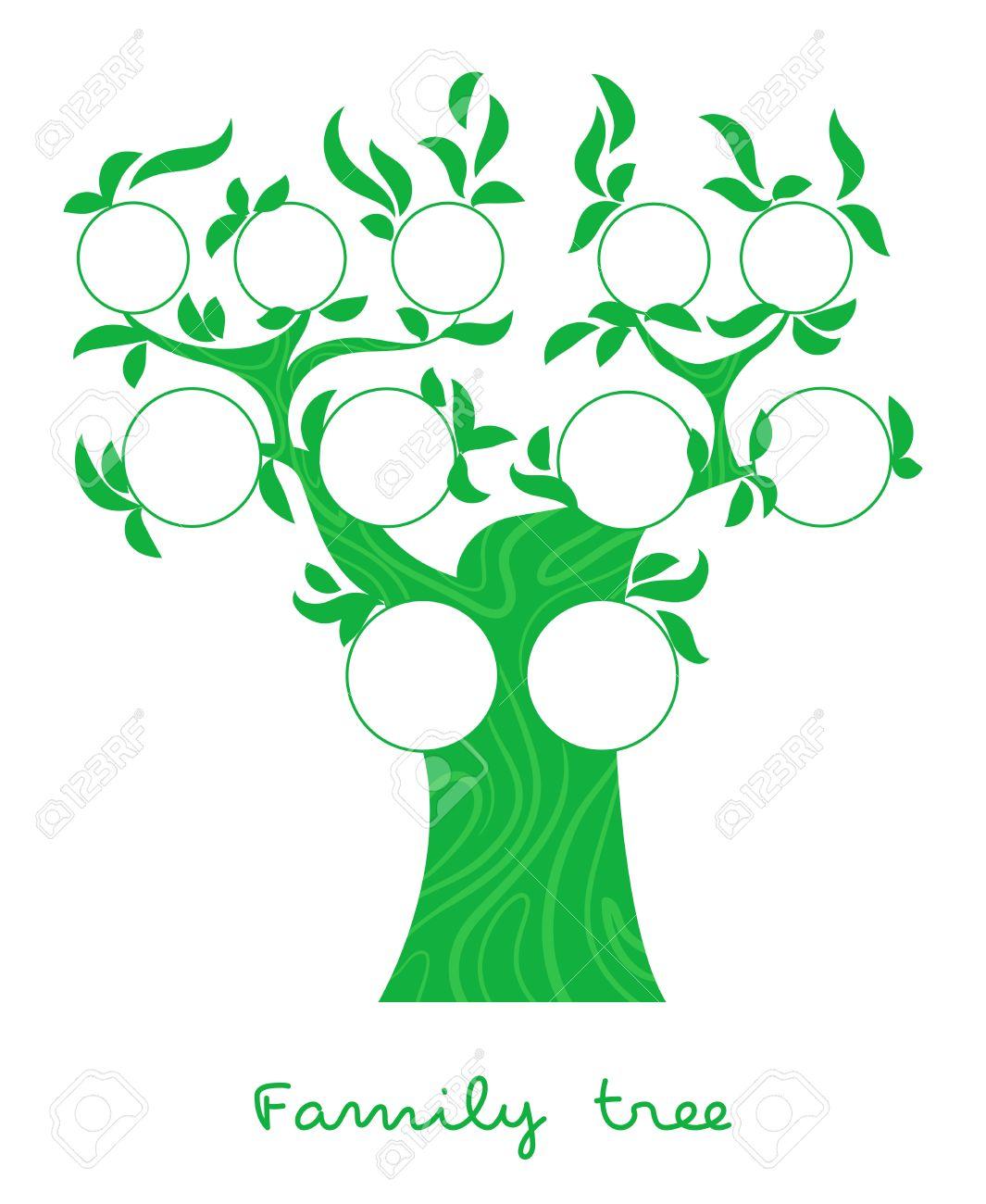 Carta Del árbol De Familia, árbol Genealógico, Retratos Familiares ...