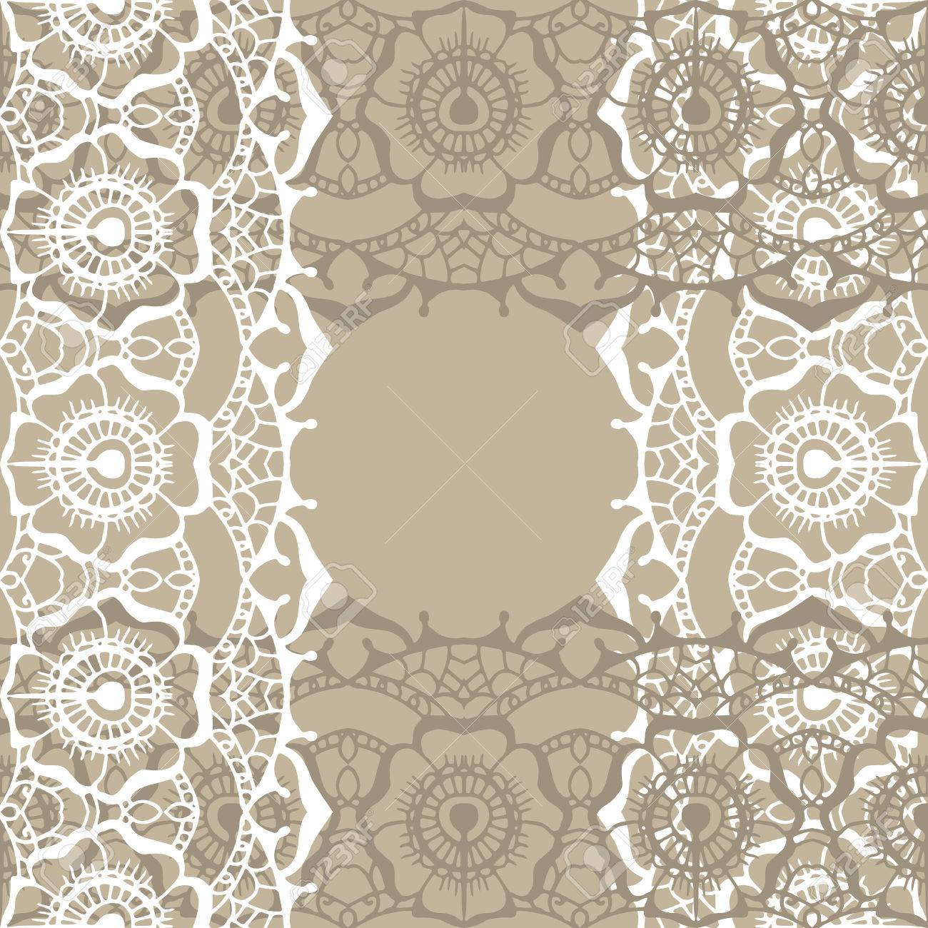 Pattern With Traditional Indian Ornamental Design. Floral Lace ...