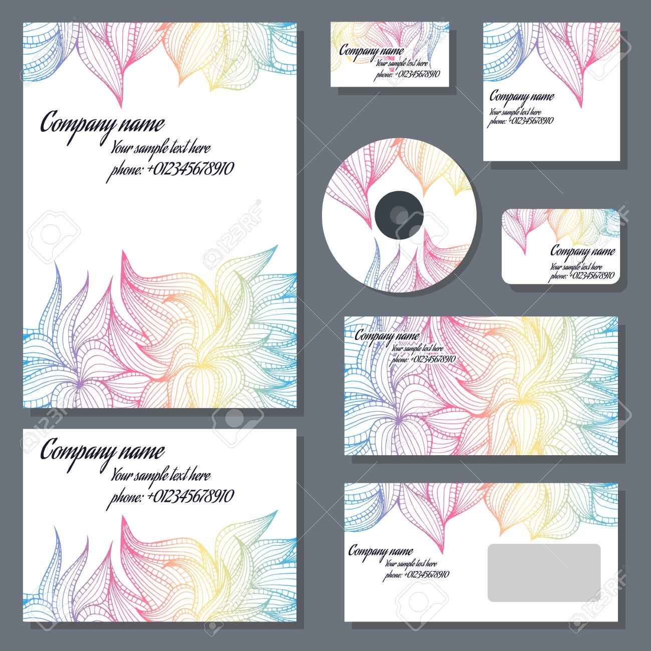 Conjunto De Plantillas Para Los Discos Cd, Sobres, Cuadernos ...
