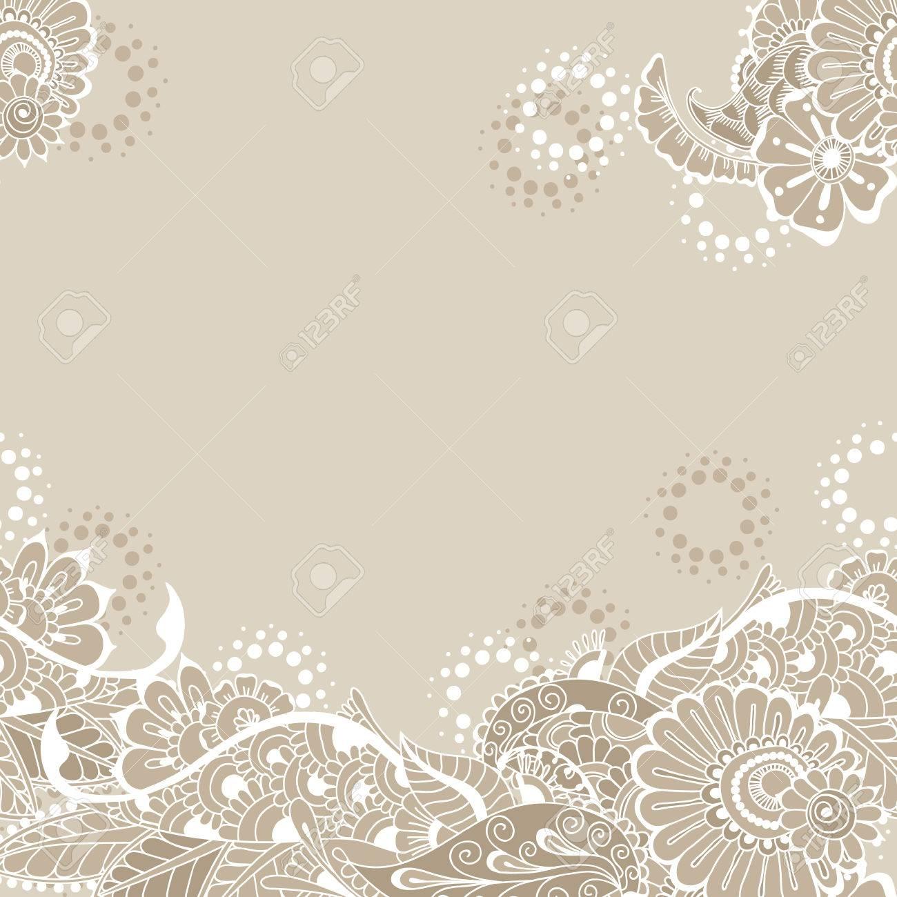 Ornate vector card template in indian mehndi style hand drawn ornate vector card template in indian mehndi style hand drawn abstract background invitation stopboris Images