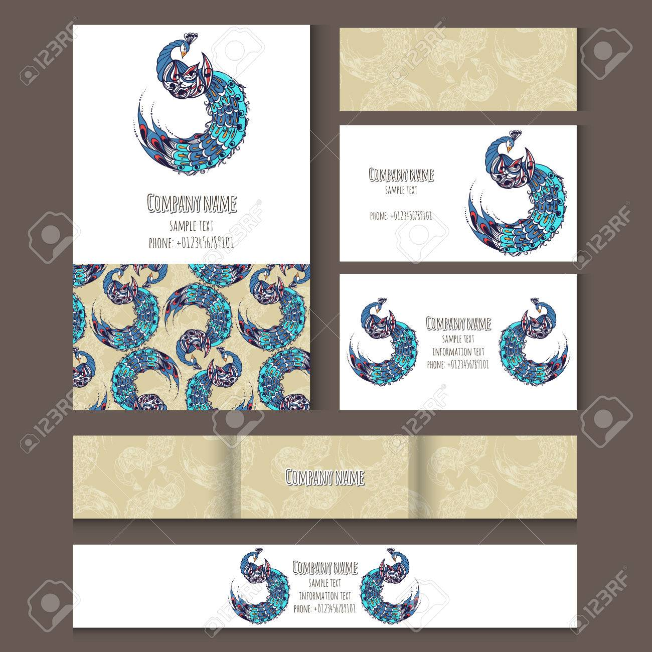 Set of templates for corporate style notebooks credit card banco de imagens set of templates for corporate style notebooks credit card business card and invitation card with birds vector illustration stopboris Images
