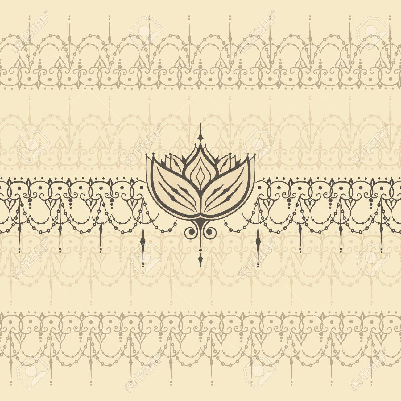 Sketch of endless stripes and lotus flower in henna tattoo style sketch of endless stripes and lotus flower in henna tattoo style mehndi element for tattoo mightylinksfo