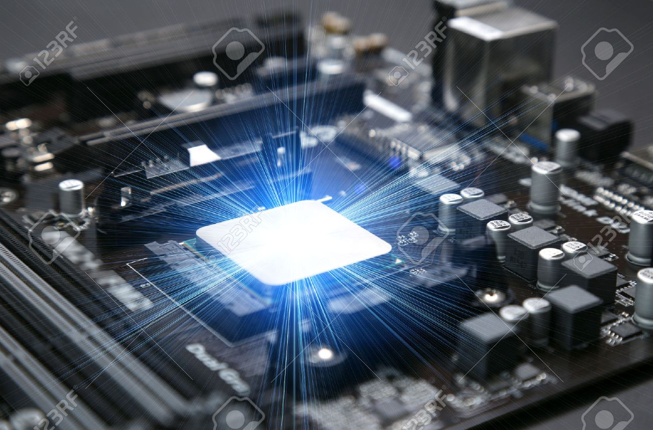 Installed in the motherboard of the computer's central processing unit CPU - 52654585