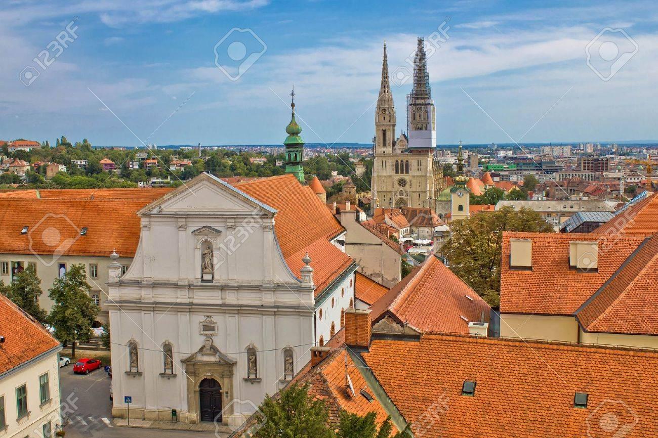 Historic upper town of Zagreb - capital of Croatia - 12426848