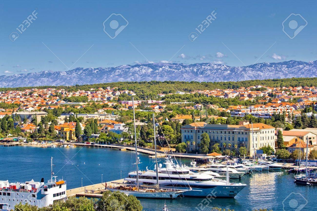 City of Zadar harbor and Velebit mountain, Dalmatia, Croatia - 21284836