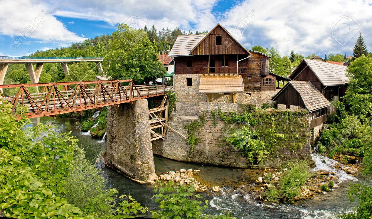 Village of Rastoke river canyon and stone architecture, Croatia - 24524621
