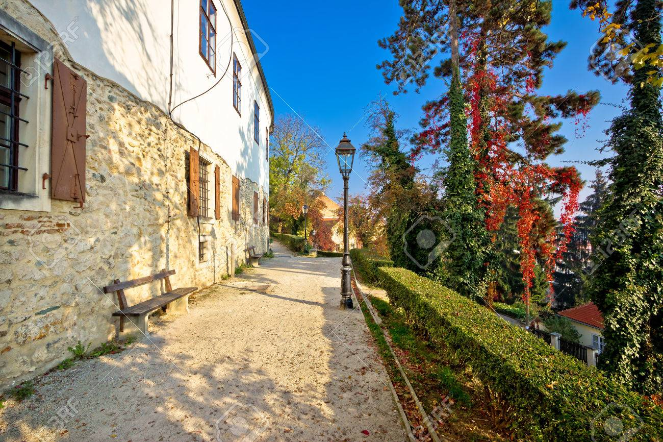 Zagreb Upper Town Park Walkway Autumn View Capital Of Croatia Stock Photo Picture And Royalty Free Image Image 51035021