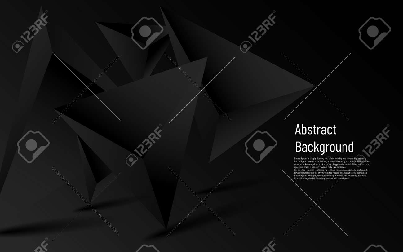 abstract luxury more dark triangle with black background - 155584487