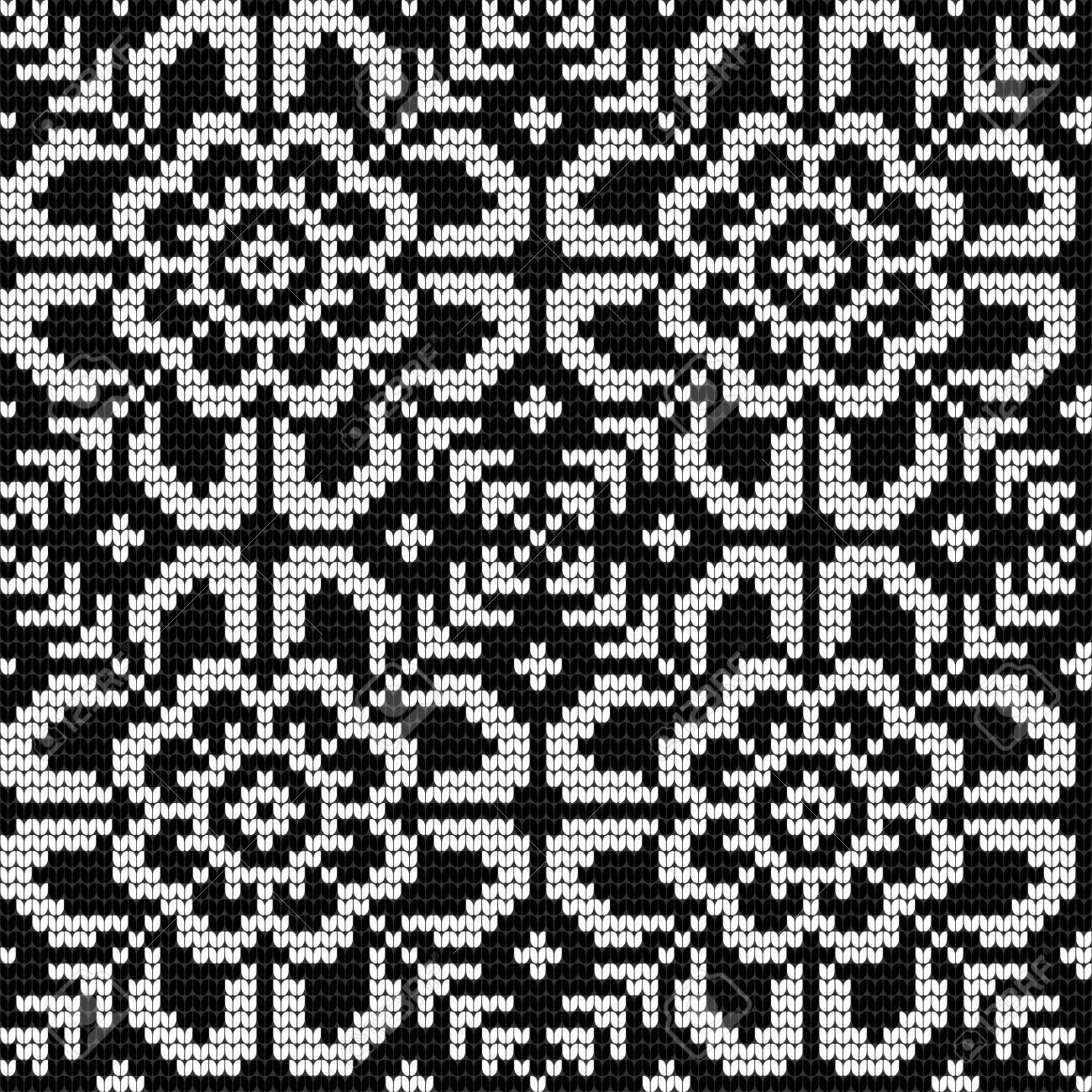 Traditional Knitting Pattern For Ugly Sweater, Vector Seamless ...