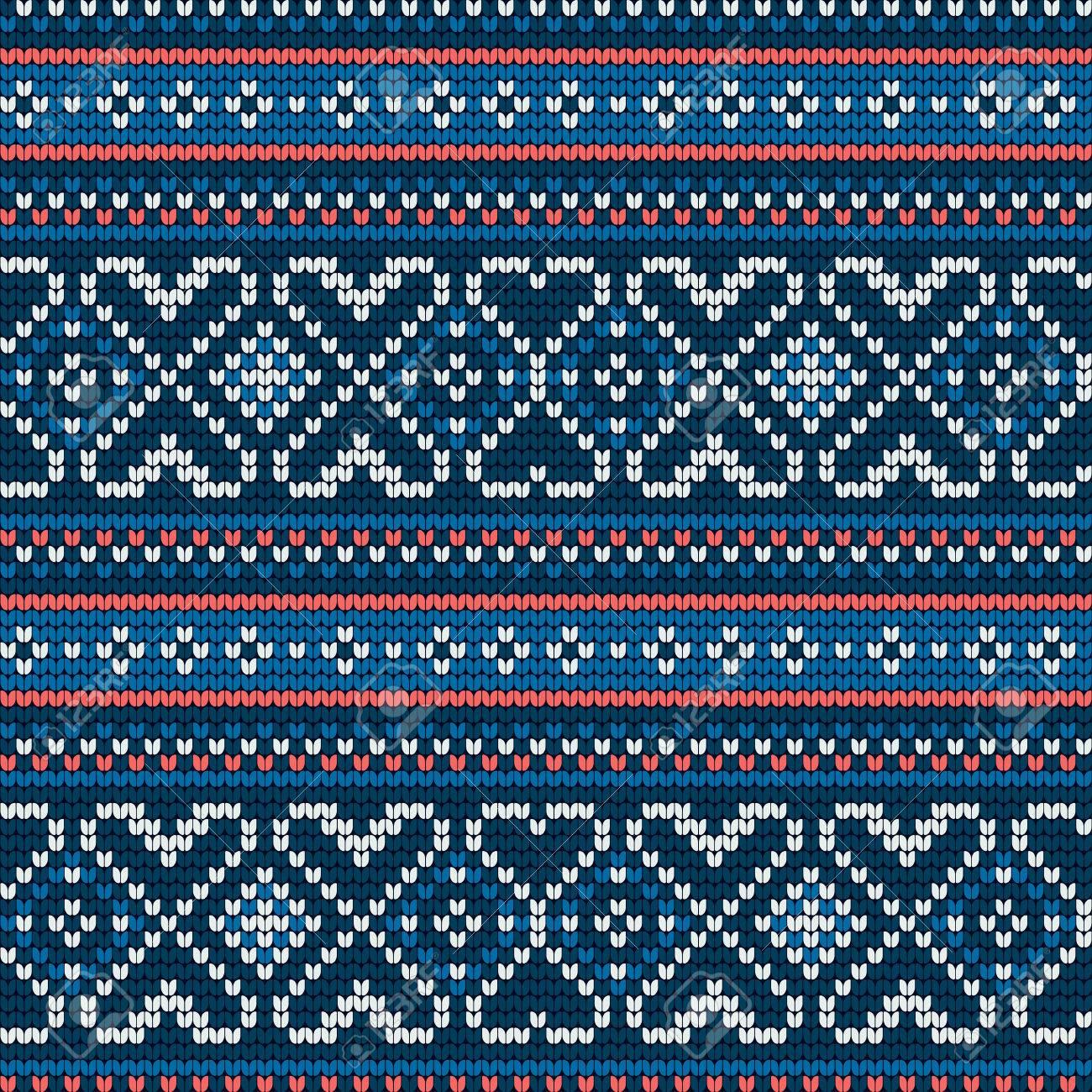 Patrón De Punto Tradicional Para El Suéter Feo, Vector Patrón ...