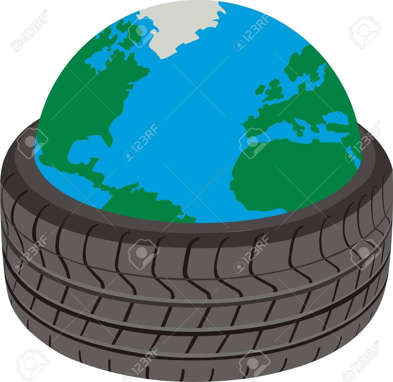 Planet of wheels Stock Vector - 11376146