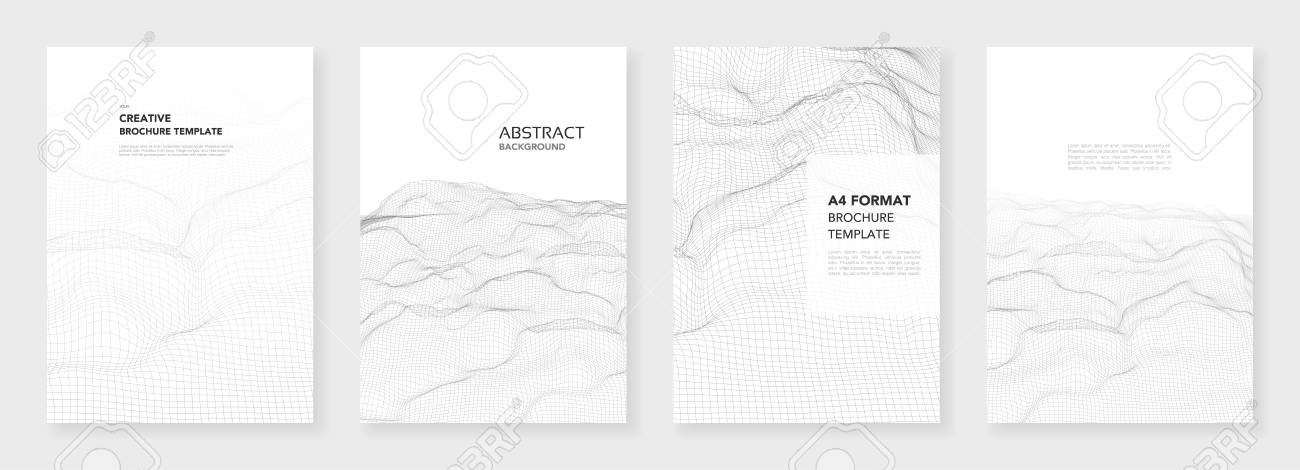 A Minimal Brochure Templates 3d Wavy Surface Grid Background
