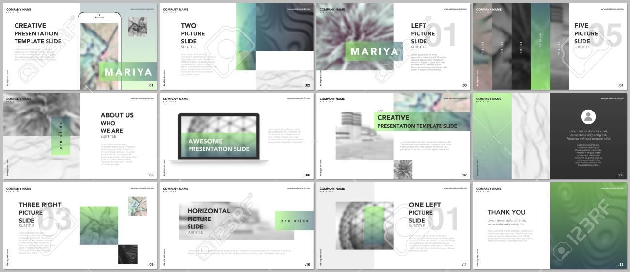 minimal presentations, portfolio templates. blue elements on.. stock, Minimal Presentation Template, Presentation templates